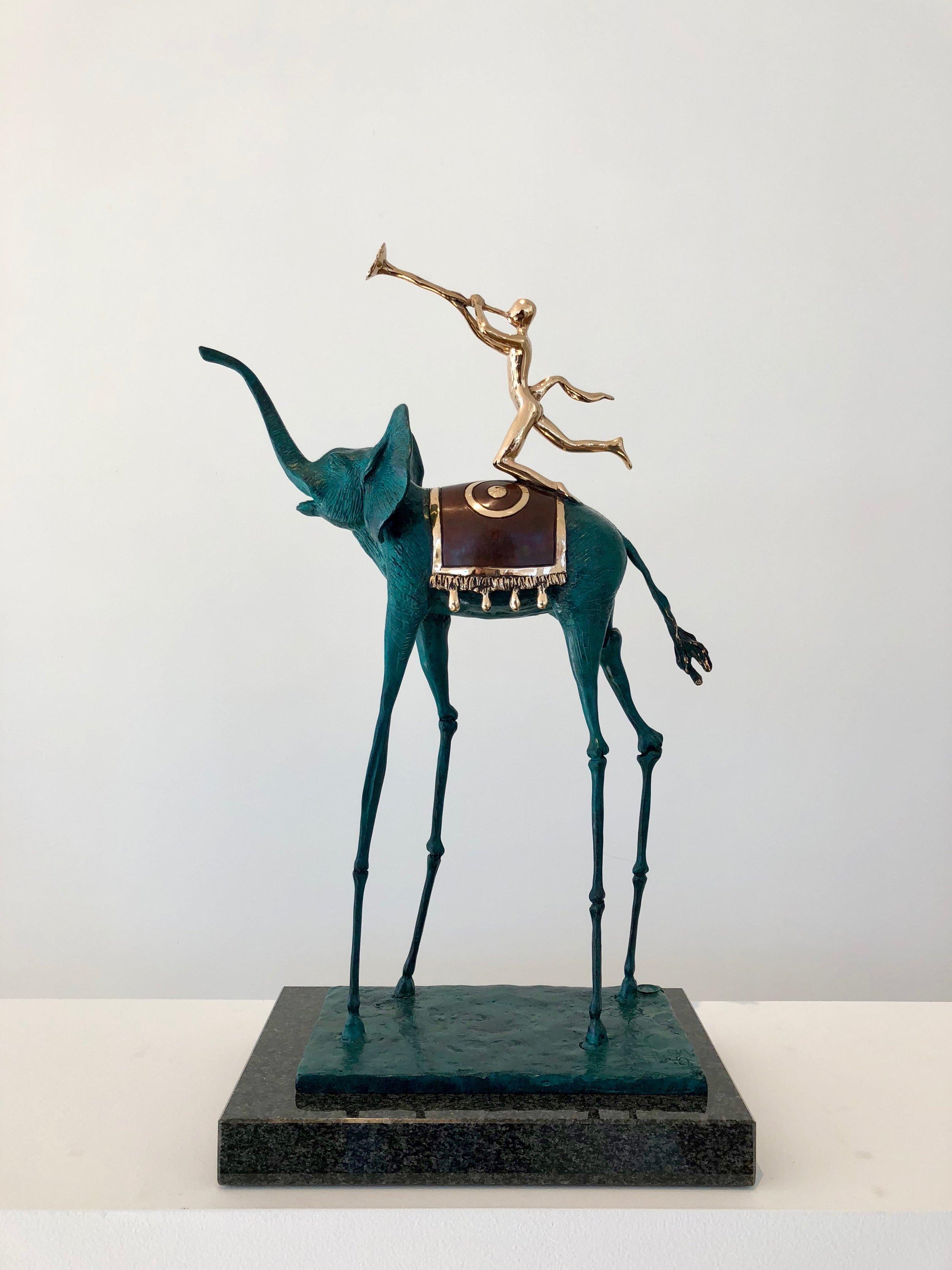 Triumphant Elephant , 1975-1984 Bronze 20 110/127h x 12 26/127w x 8 34/127d inches