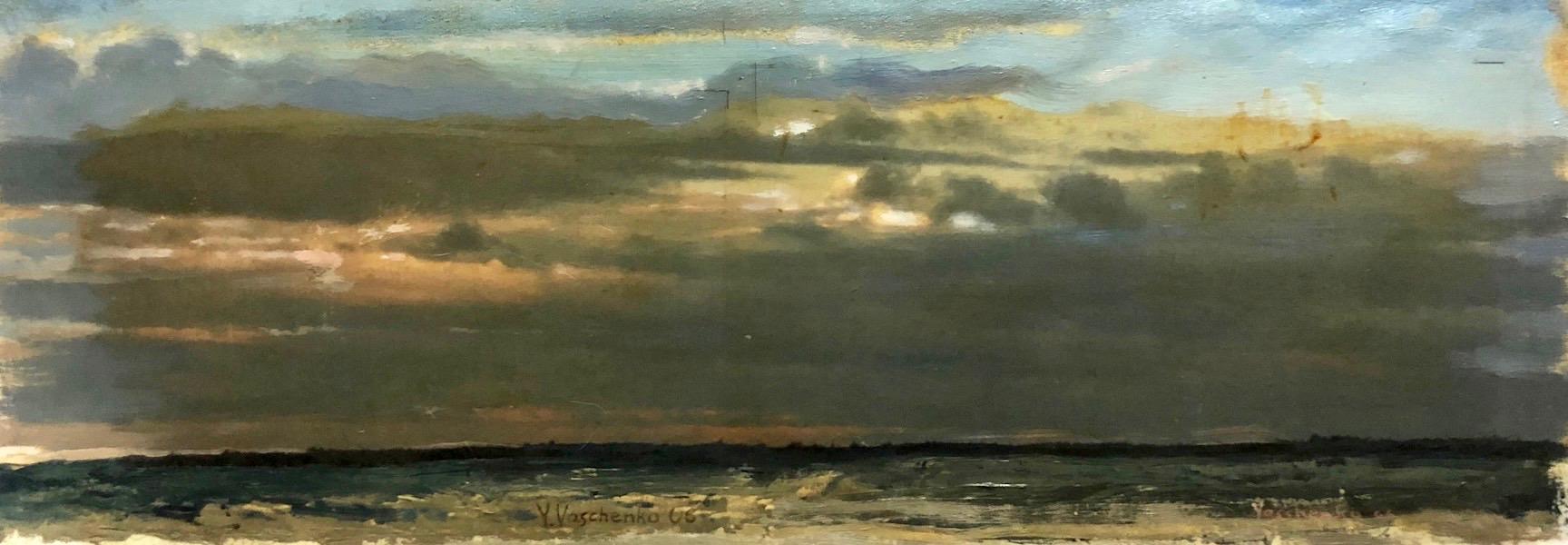 Still Evening Twilight Has Fallen , 2006 Oil on Canvas 6h x 17w in