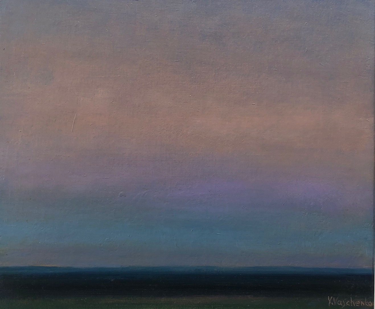 Approaching Twilight #5  2006 Oil on canvas 10 x 11 3/4 inches