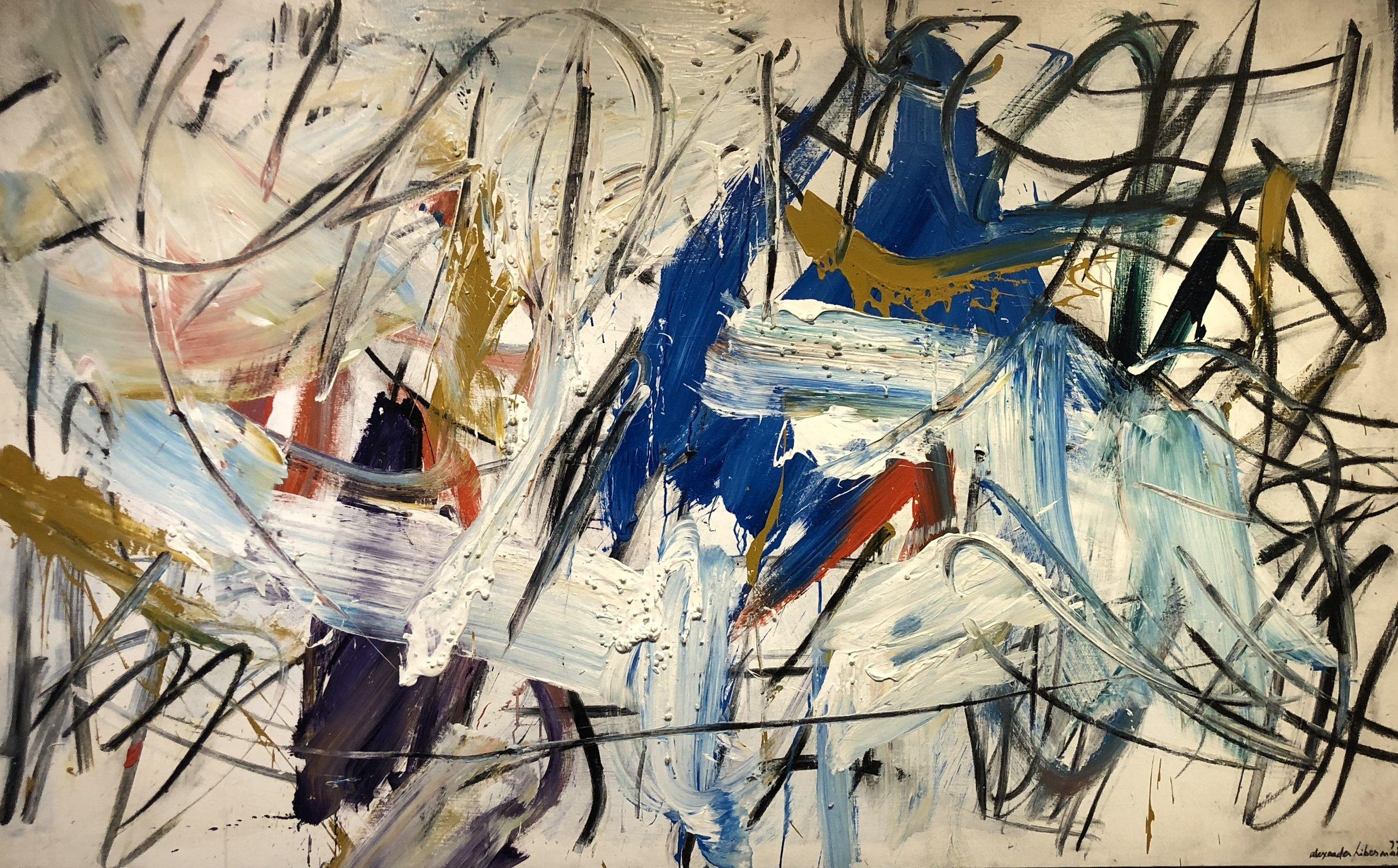 Erg I , 1977 Acrylic on canvas 60 x 96 inches