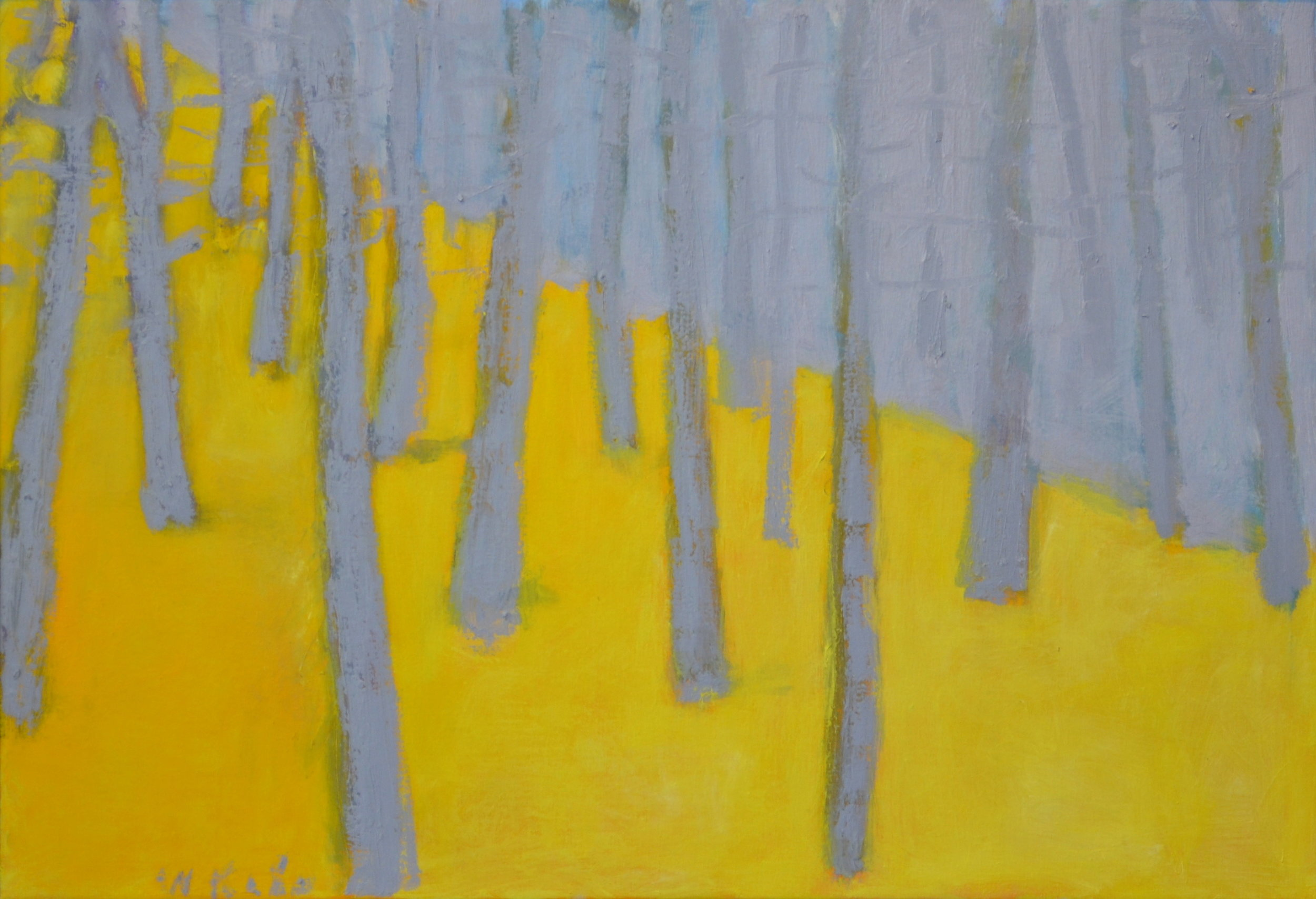 Yellow and Violet-Gray , 2009  Oil on canvas  18 x 26 inches