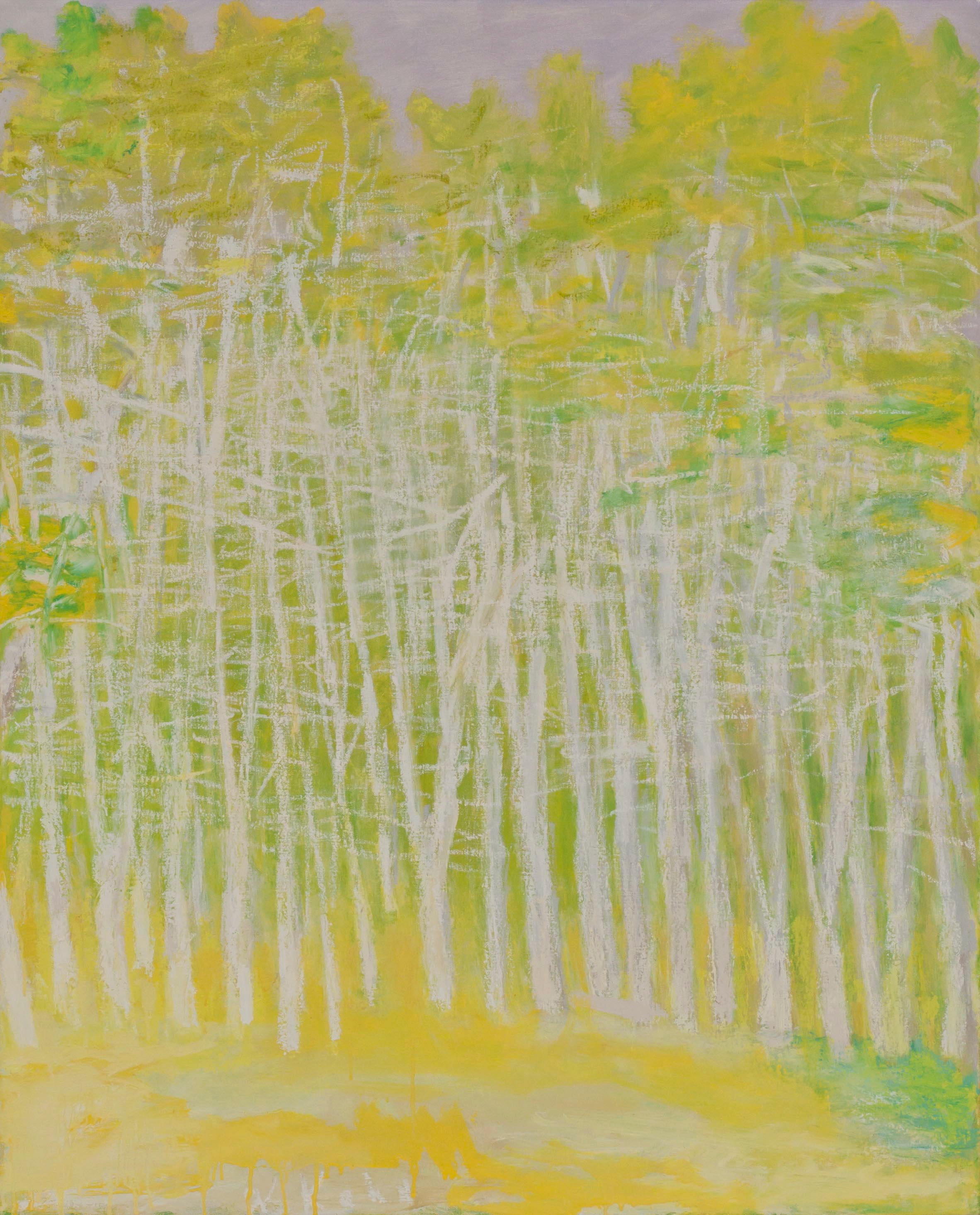 Yellow and White , 2010  Oil on canvas  40 x 32 inches