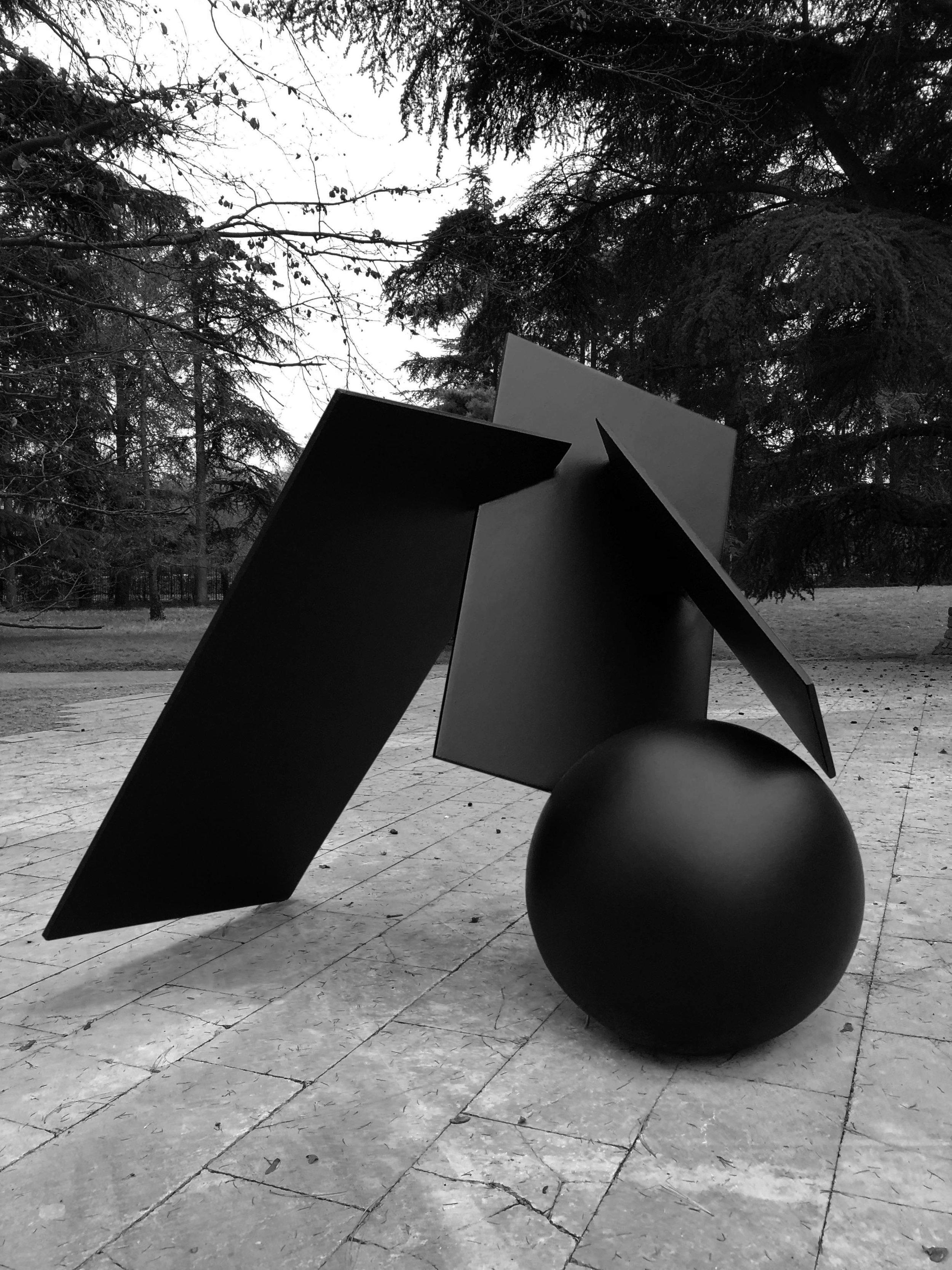 Particle 01 Copper black patination Floor Sculpture 102 x 120 x 100 cm ed. 1/3