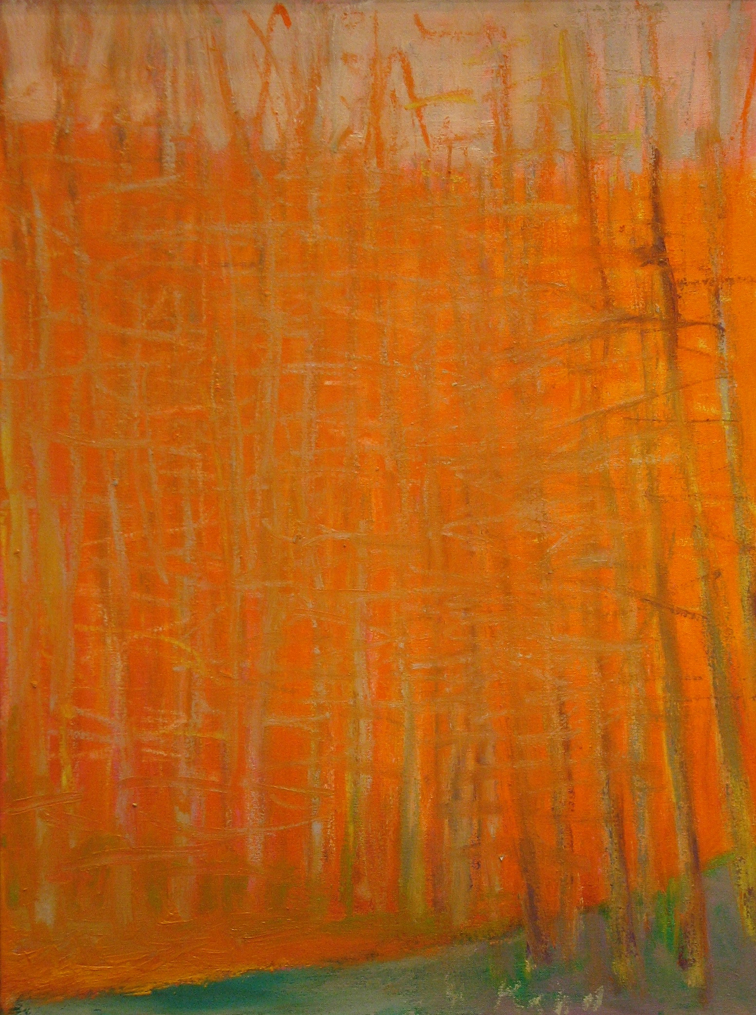 Trying to Obliterate Orange,  2010  Oil on linen  24h x 18w inches
