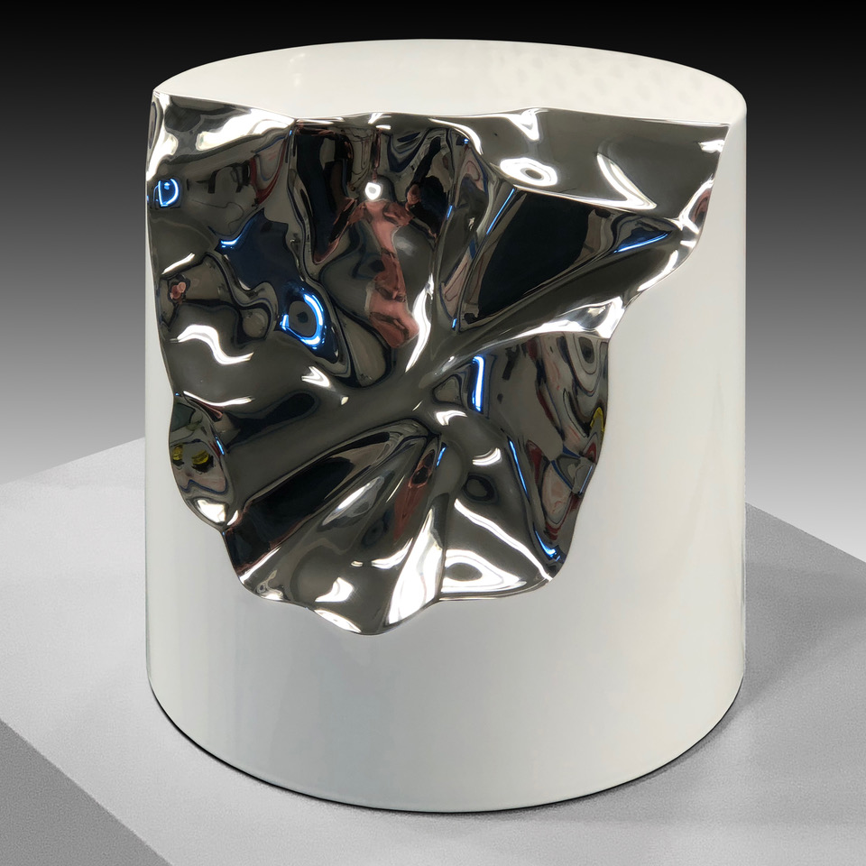 Shatter  (Stainless I) Stainless Steel 14.5 x 8.5 x 8.5 inches