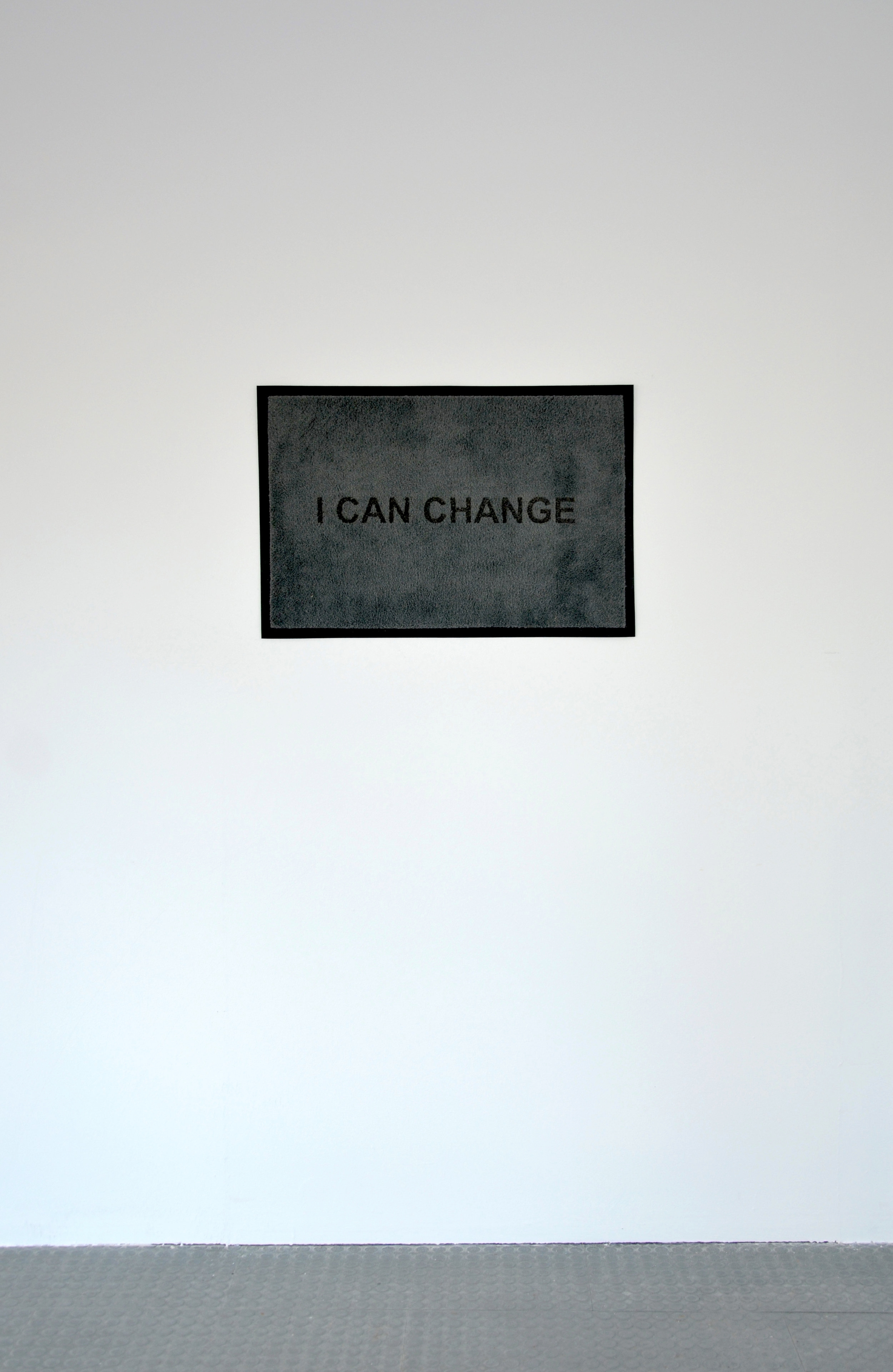 I Can Change, Doormat, 2018. Courtesy of Wright & Vandame.
