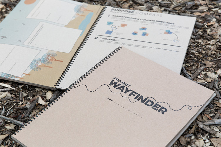 Each participant receives their Project Wayfinder Toolkit, which houses each week's activities and lessons.