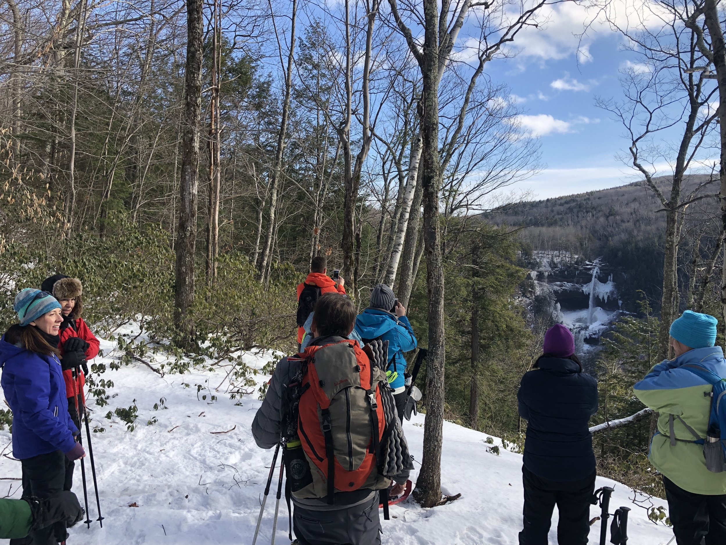 Snowshoeing along the Kaaterskill Rail Trail