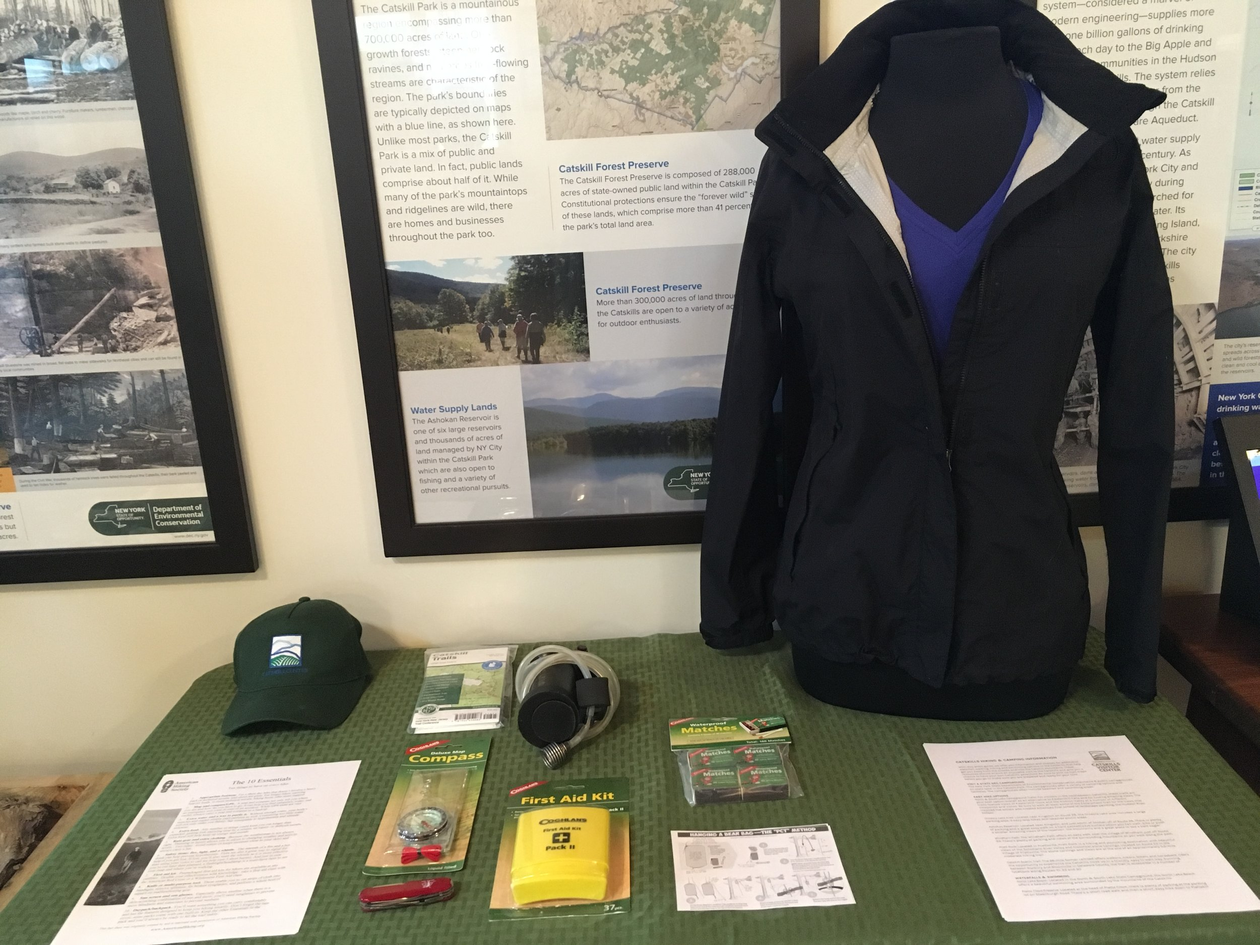 Hiker preparedness is key! Come to the Catskills Visitor Center for additional outdoor information.