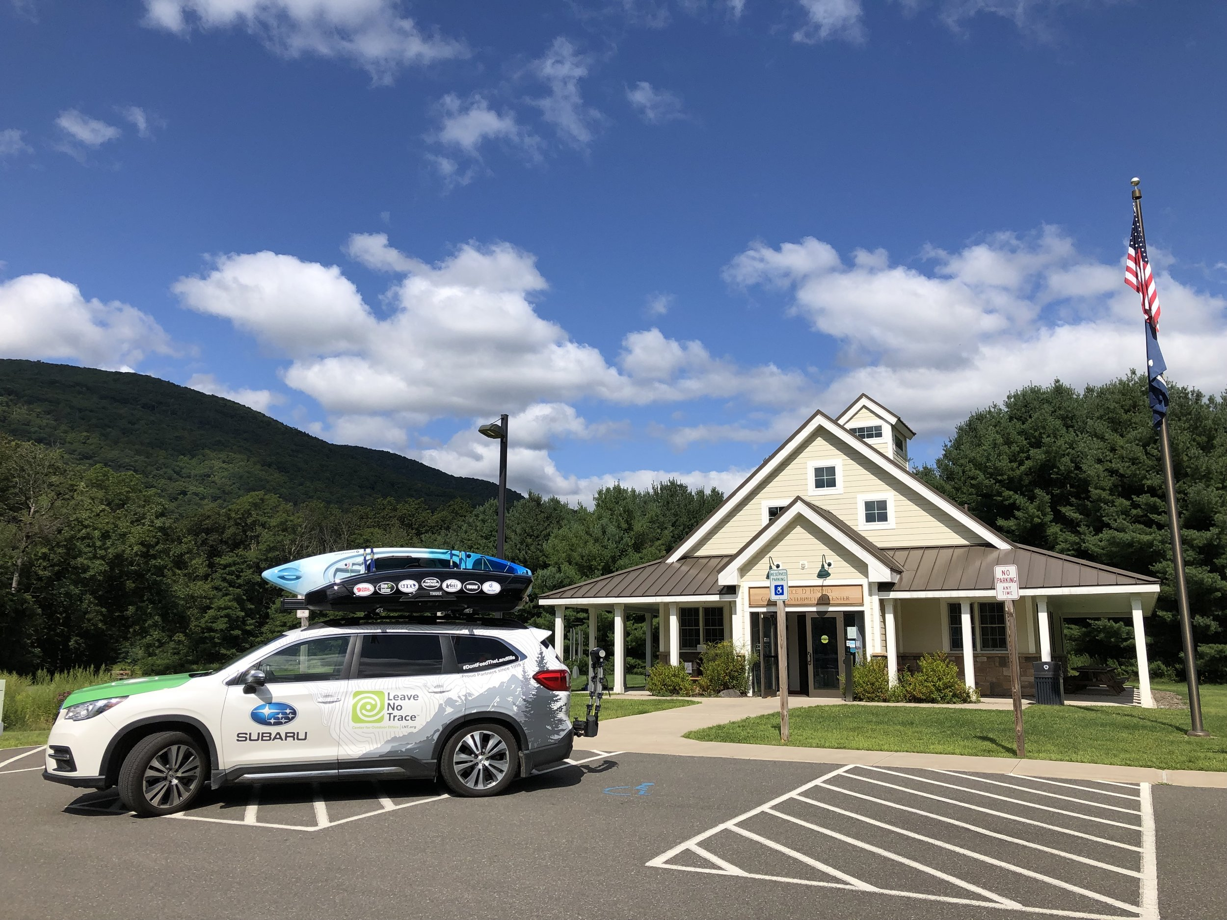The Subaru/Leave No Trace Traveling Trainers came to the Catskills last week to promote responsible recreation throughout the Catskills.