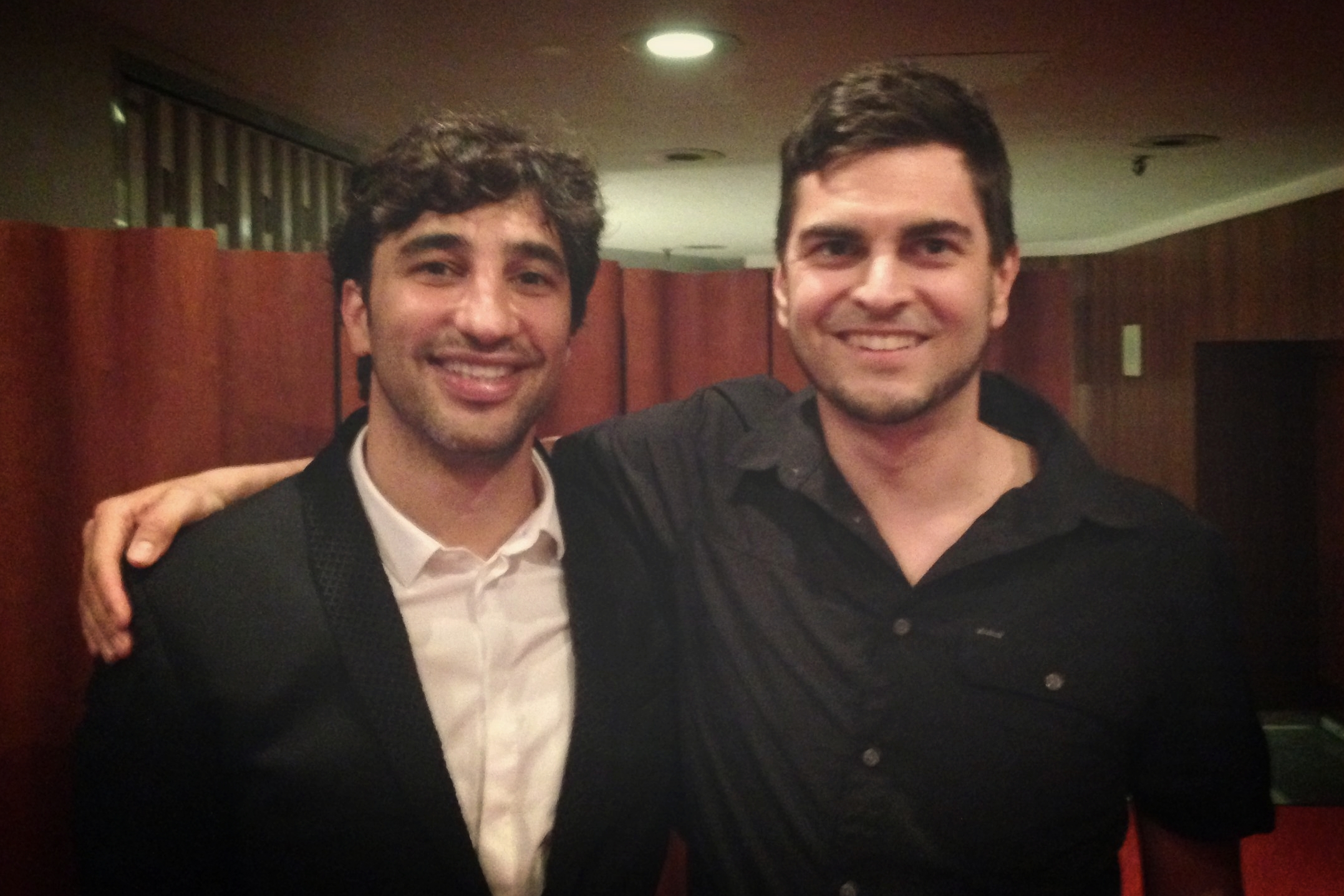 Me & Avi Avital after his performance in 2016