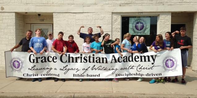 Cornerstone Youth Group Help at GCA.JPG