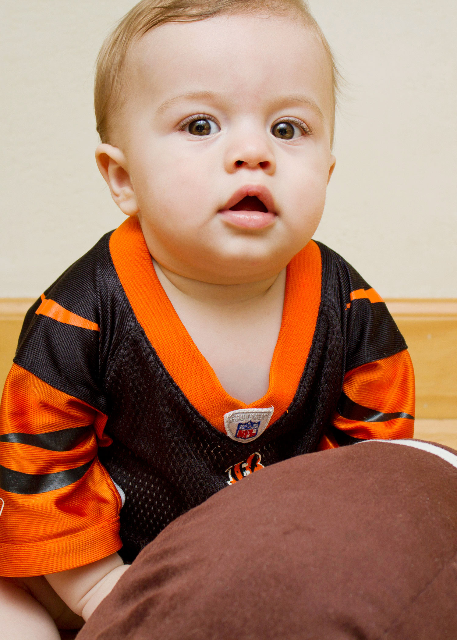 Baby Football Portrait