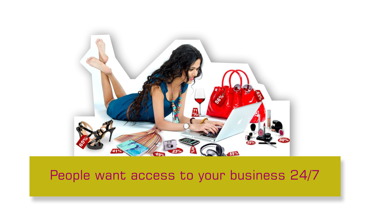 Copy of A standout website gives your business 24/7 access to your target market.