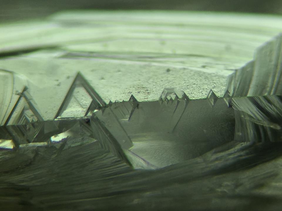 The Edge of a Diamond Crystal, Photo by Gabrièl Mattice