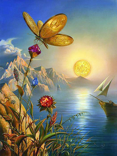 Treasure Island by Vladimir Kush