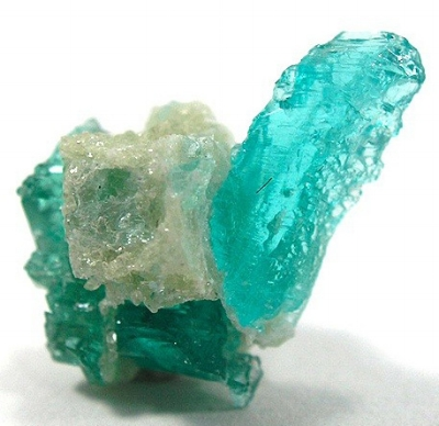 Paraiba Tourmaline Crystal Photo by Rob Lavinsky