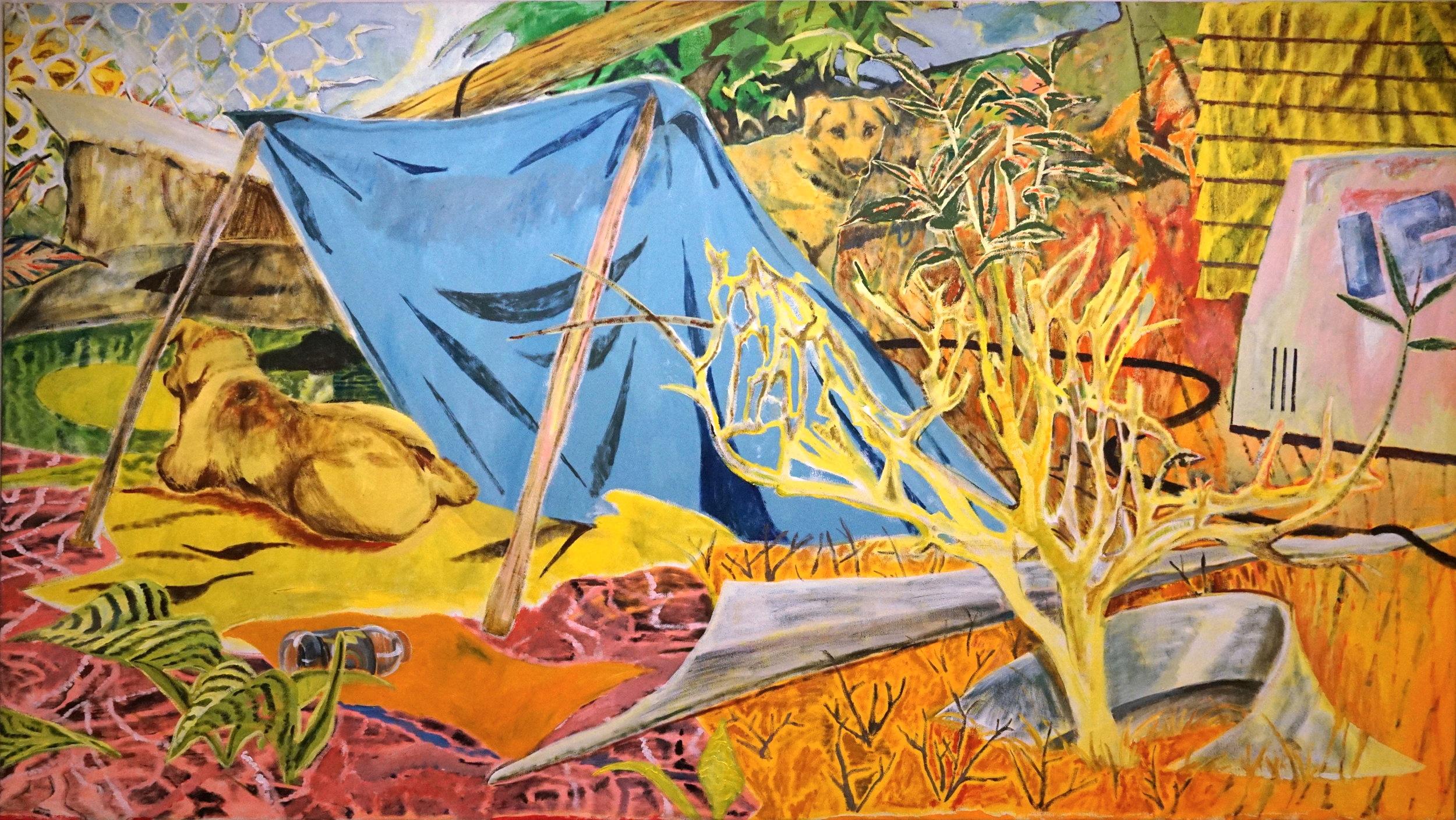 Hurricane Season, oil on canvas, 315x170cm, 2019