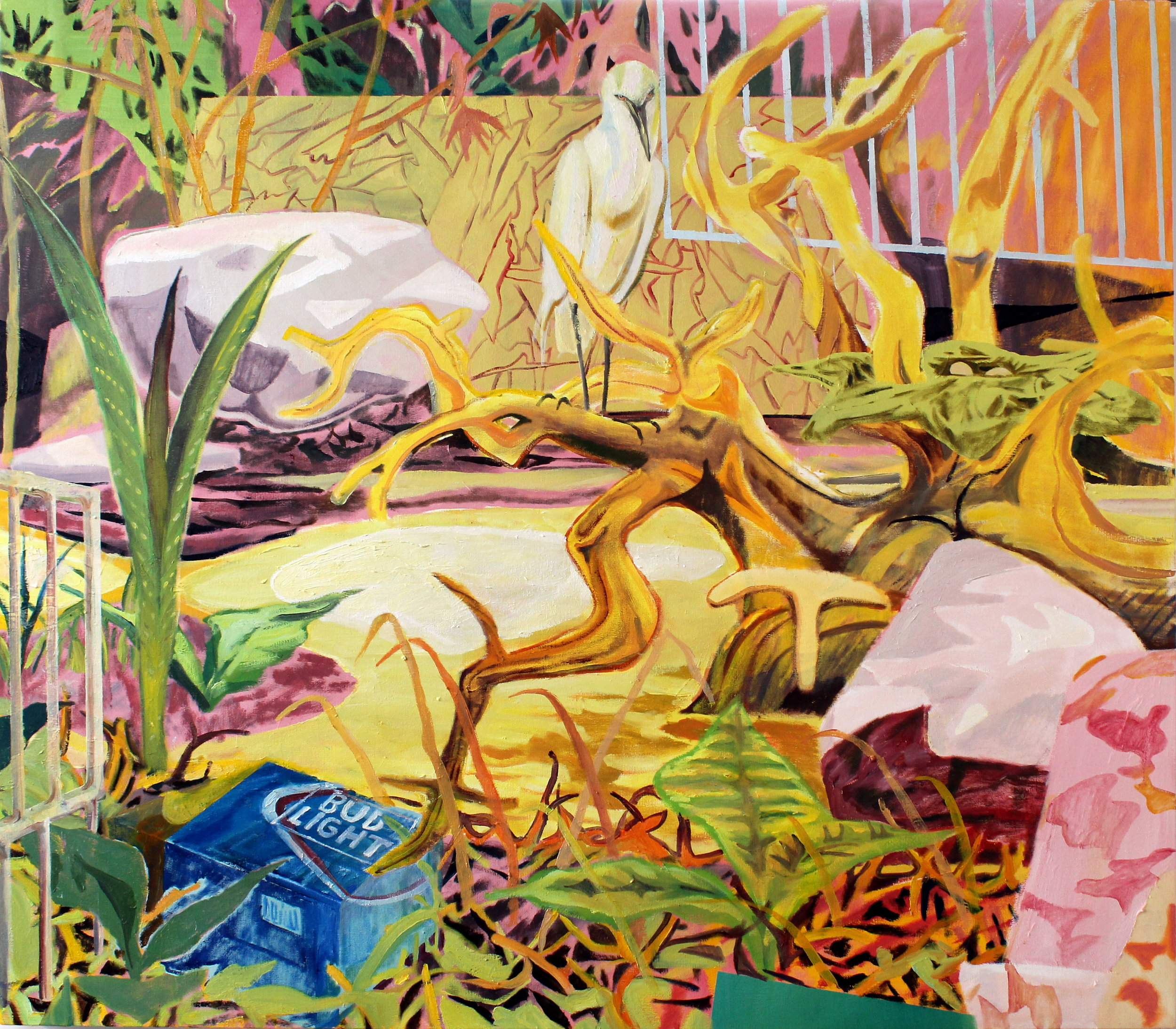 """Rookery, 2019, oil on canvas, 55x63"""" (140x160cm)"""