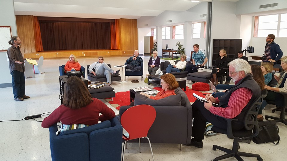 """We gathered at """"The Mix"""" which is a co-working space, housed inside White Rock United Methodist Church."""