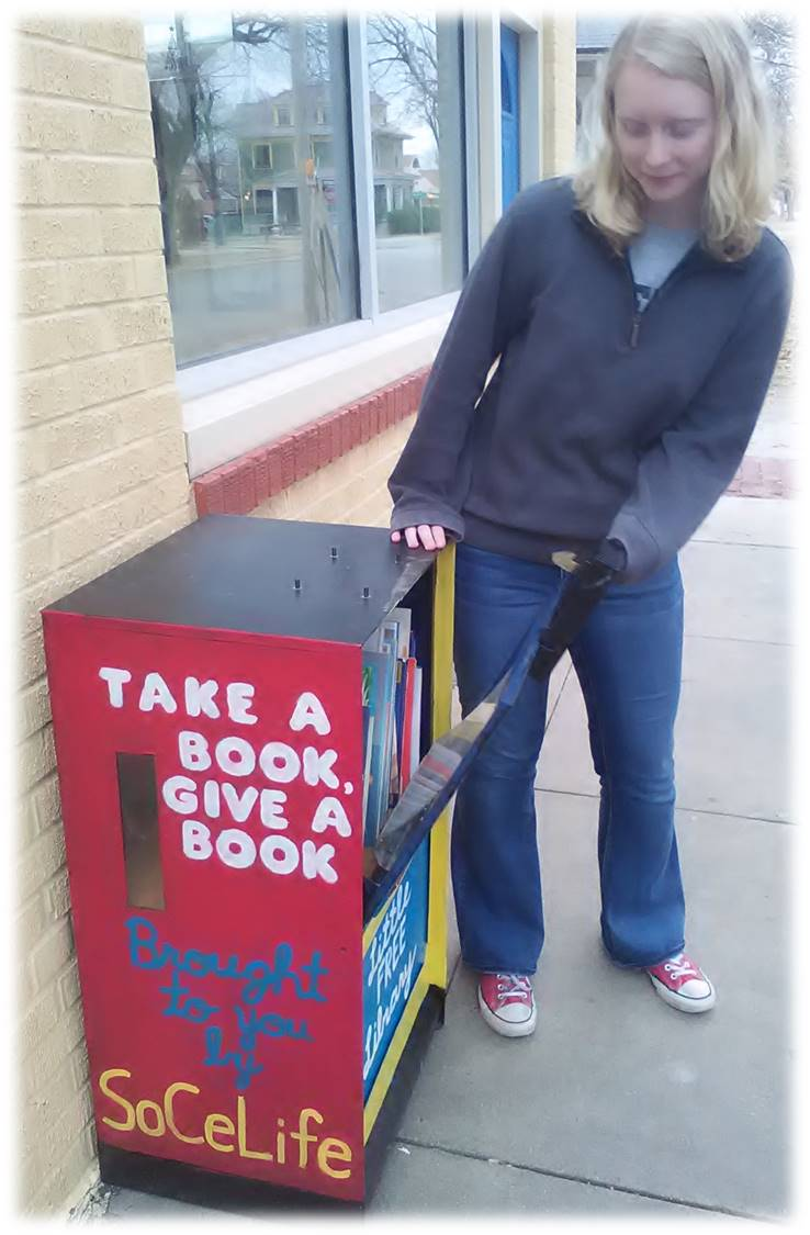 The instructions are simple: take a book, give a book.