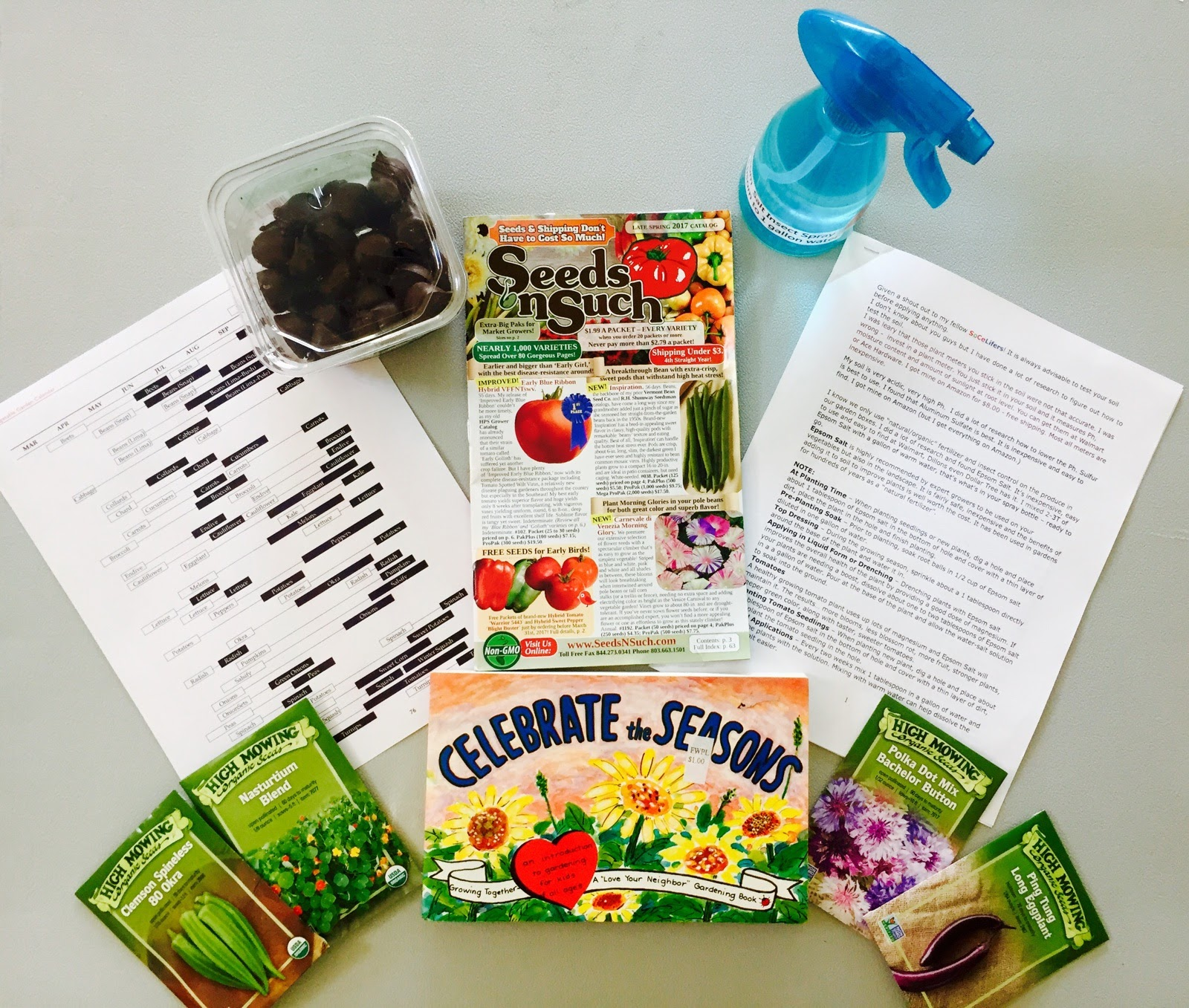 Some of what was shared at the gathering (including dark chocolate mints!)