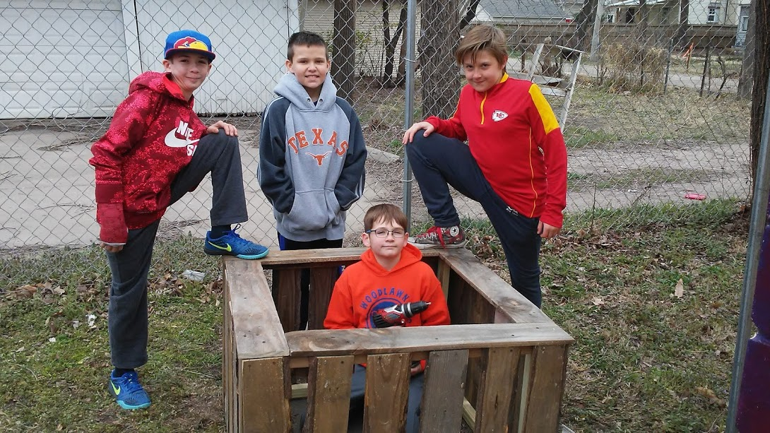 Enthusiastic young box builders!