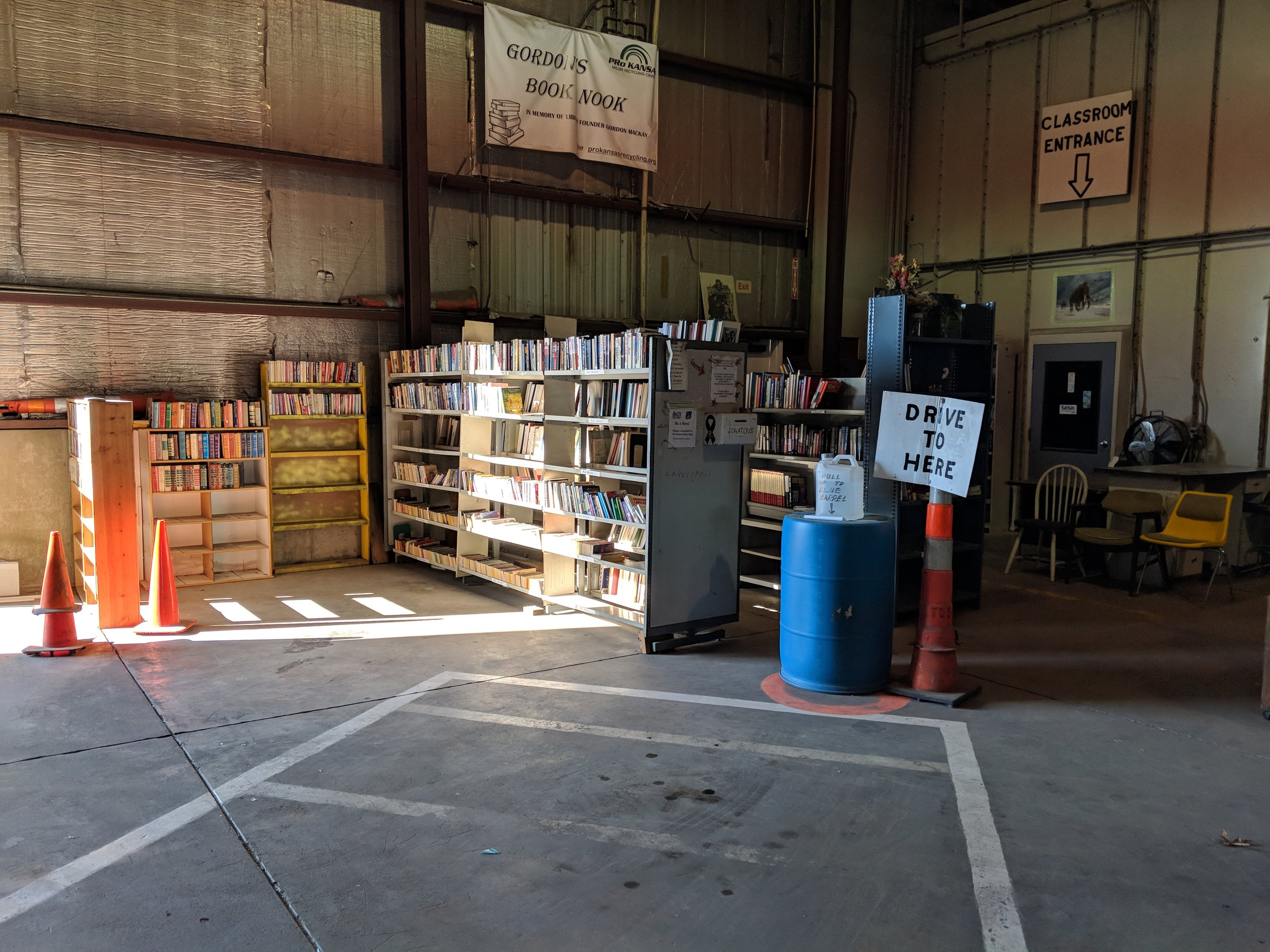 Gordon's Book Nook. Take one, leave one library open to the public.