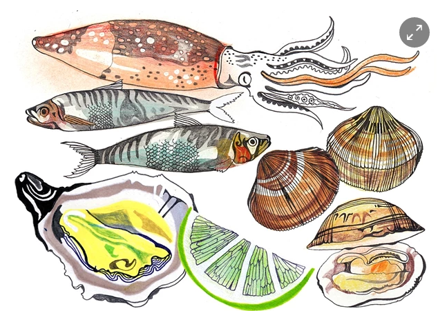 Image via   The Guardian.     -You should    eat more fish   ! Just take it easy on the tuna, salmon, and Chilean sea bass. Chefs are    embracing    smaller and less famous fish, and you should too. Small fish like mackerel, sardines, and anchovies, as well as filter feeders like oysters, are nutritious and    packed with flavor   --as well as cheaper than their A-list counterparts. Sounds like a win-win to me.