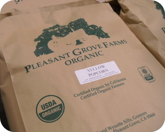 Pleasant Grove Organic Popcorn - If you're looking for basket-fillers of a different sort of