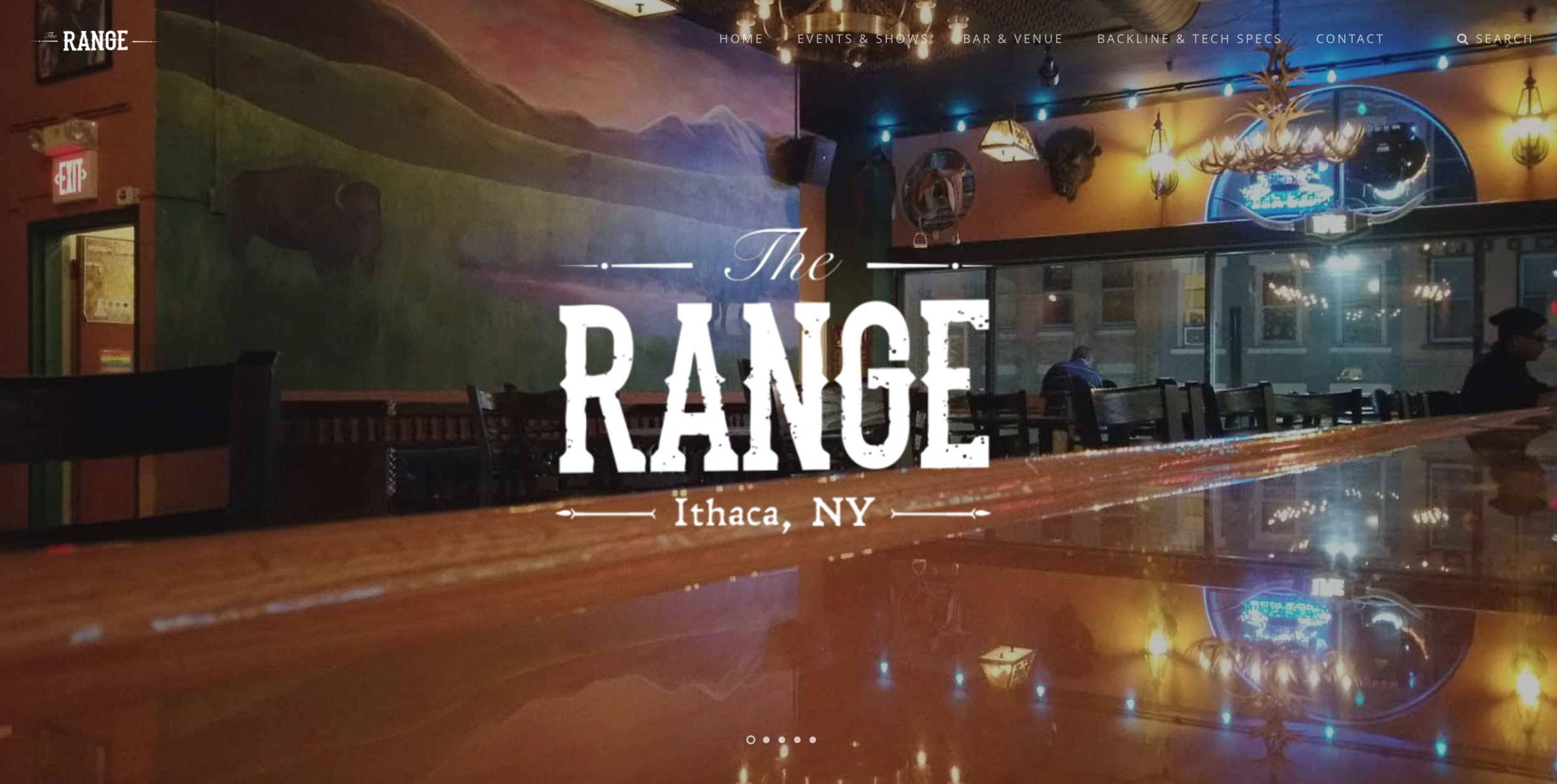 Branding Initiative for The Range on The Commons:  Mural, Logos, Hand-Lettered Glass Gilding Window Sign, and Box Light Street Sign