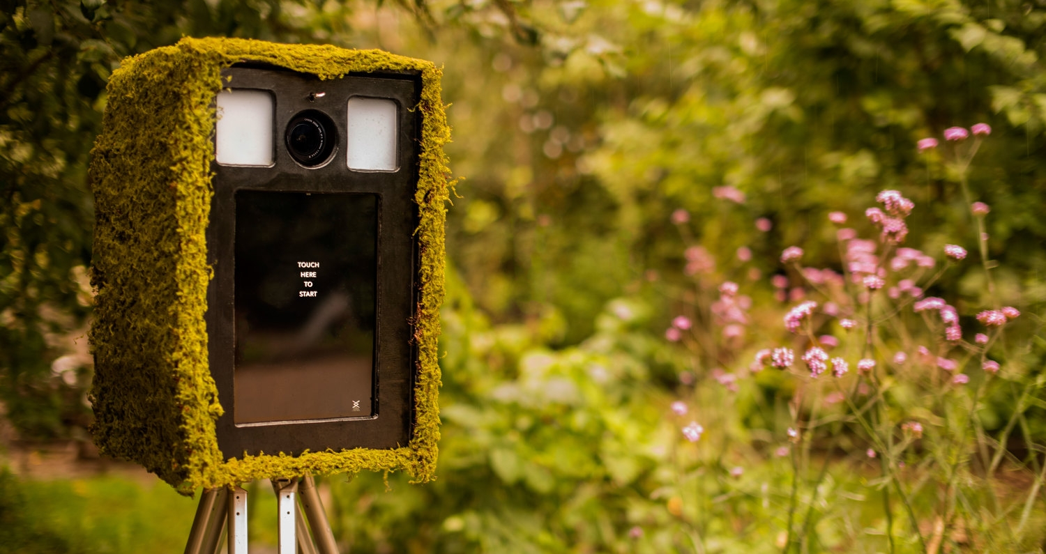 customisable and branded photo booth for hire