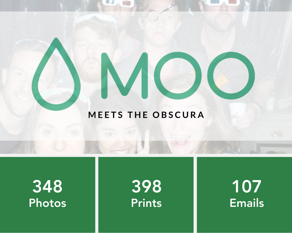 Moo's 10th Anniversary Party Stats with The Obscura Photo Booth from The London Lightbox