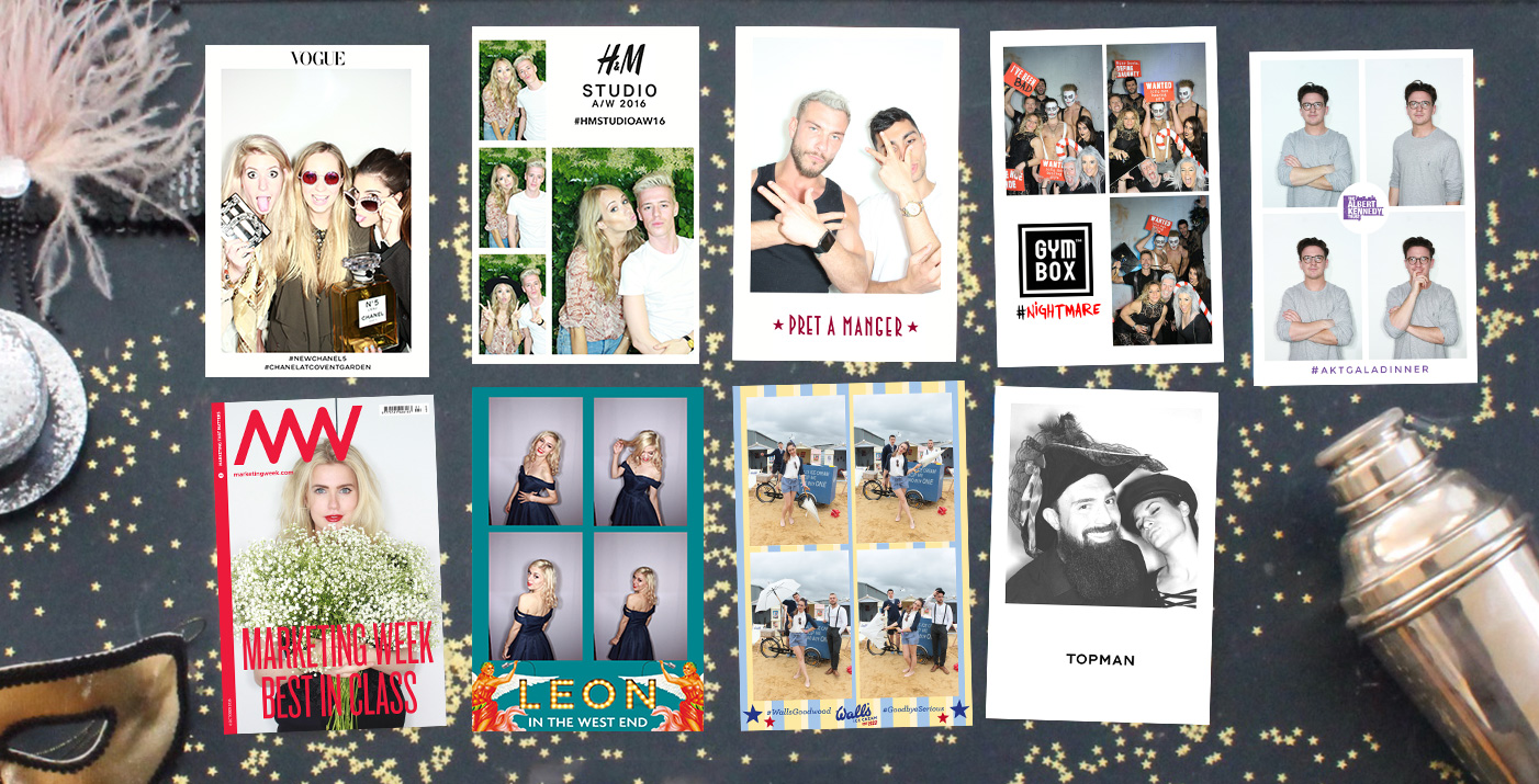 customised prints from the photo booth