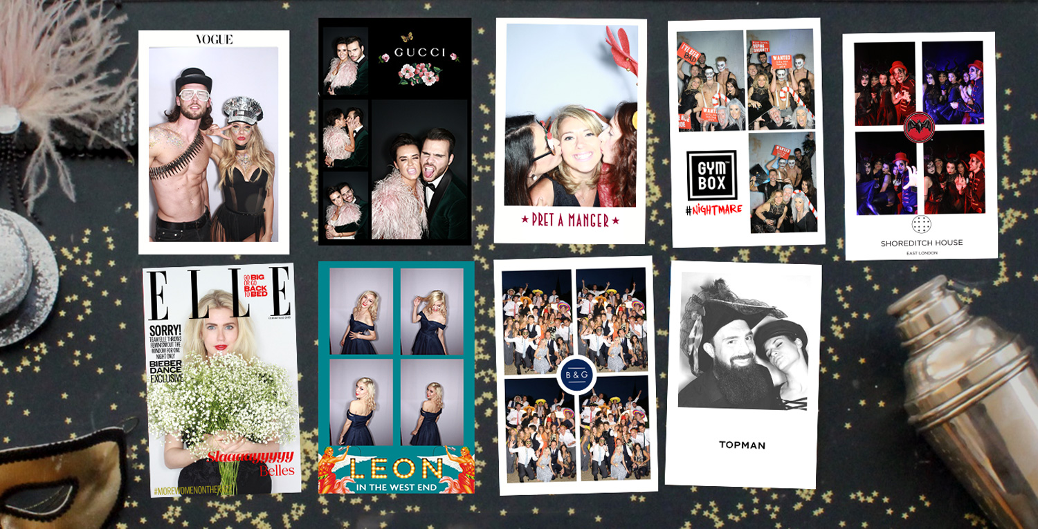 The London Lightbox Obscura Photobooth Christmas Party Layouts