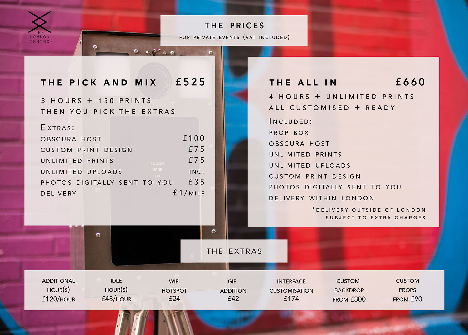 The London Lightbox Photo Booth Info Pack