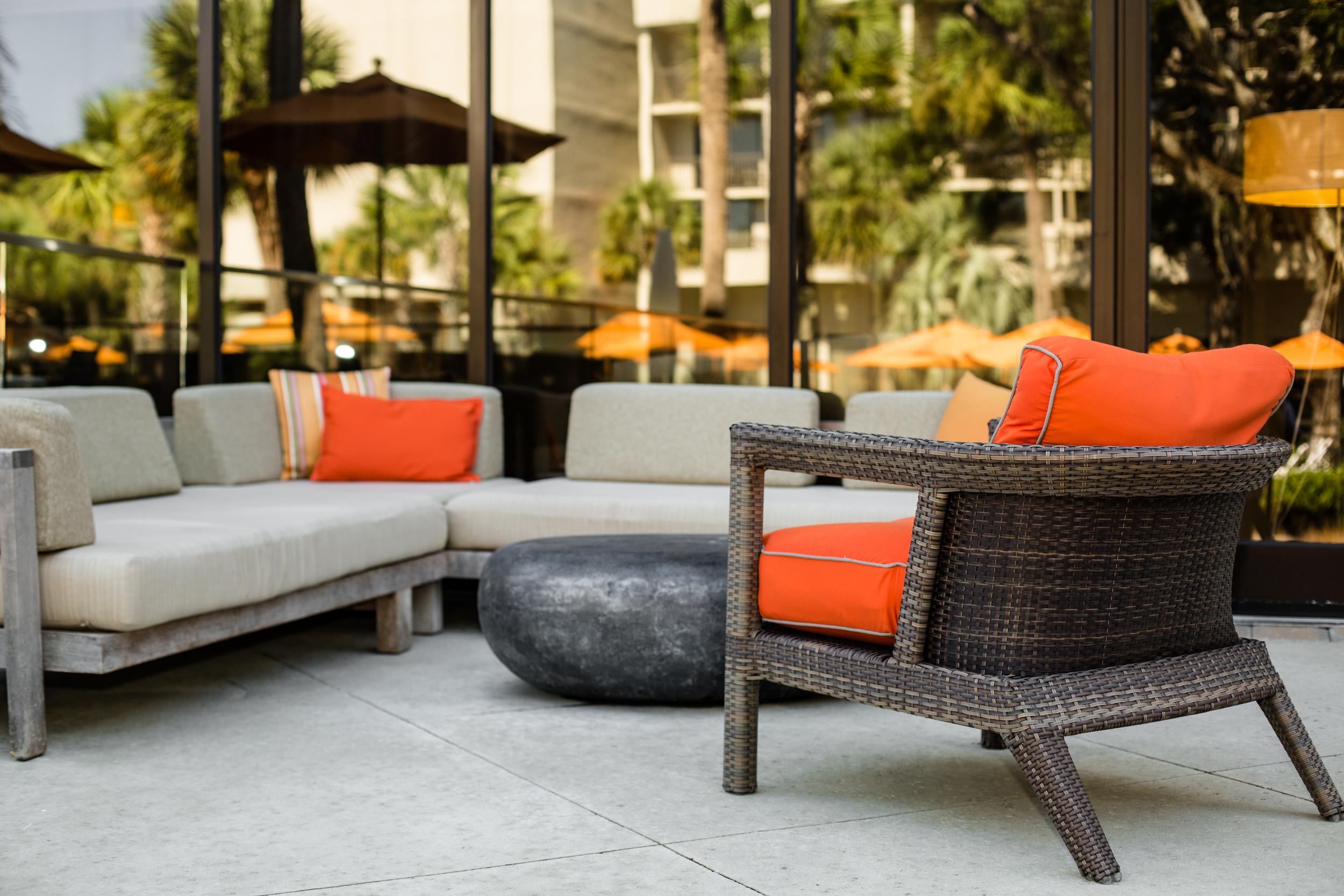 Outdoor Seating at Beach Resort, Hilton Head Island