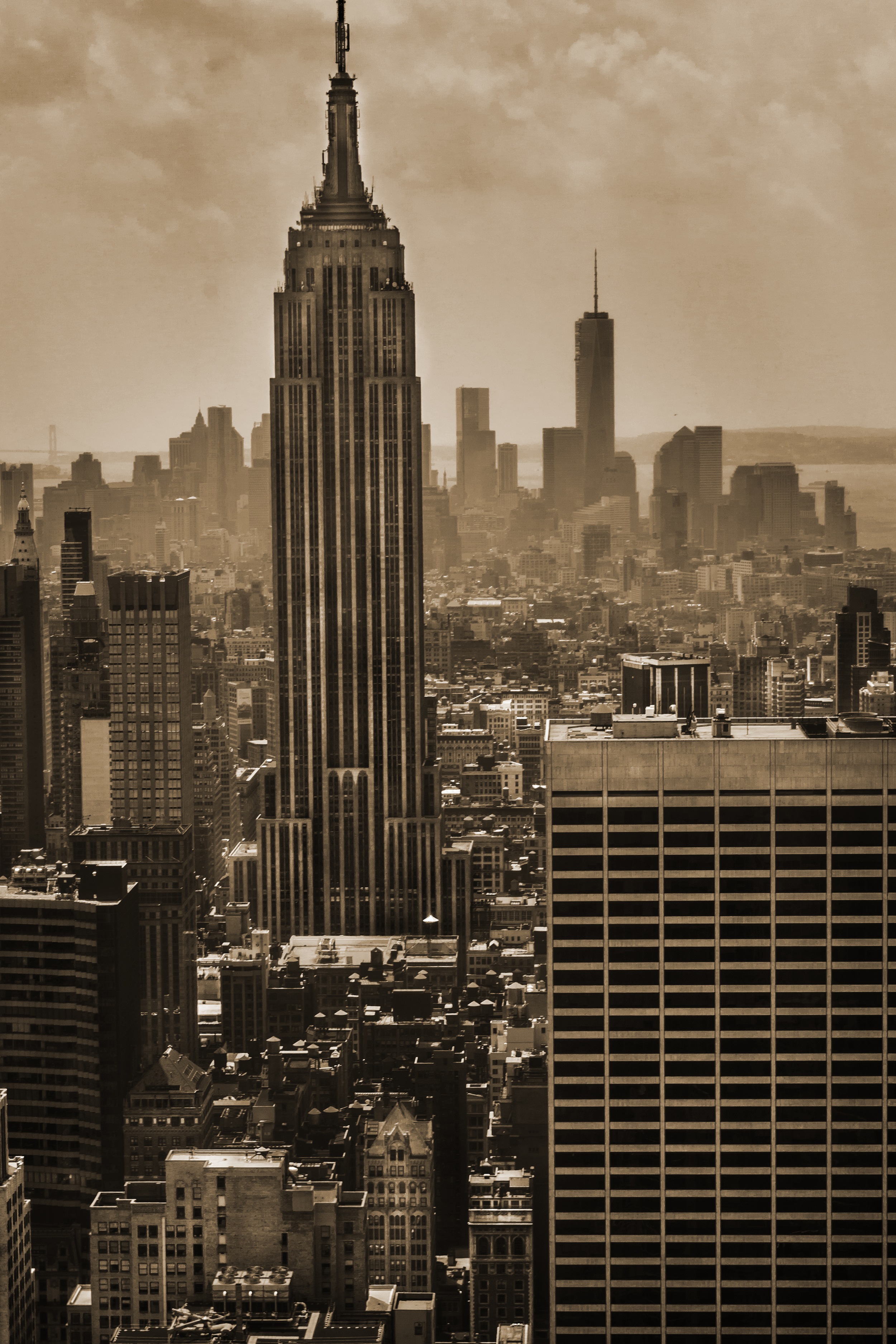 Empire State Building from the Top of Rockefeller Center