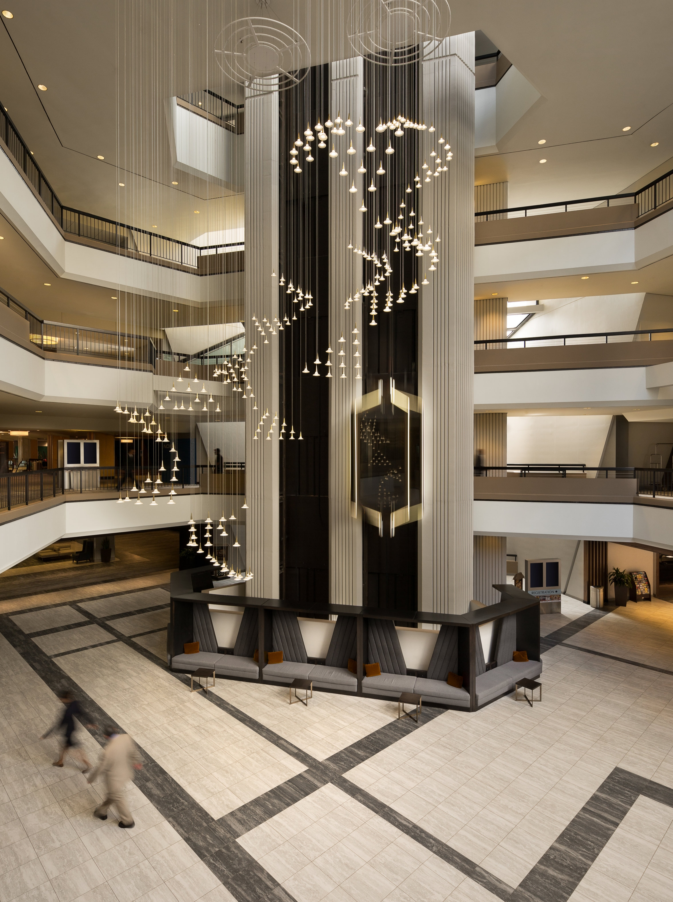 Atlanta Hilton Lobby for Lighting Company, Viso, Inc.
