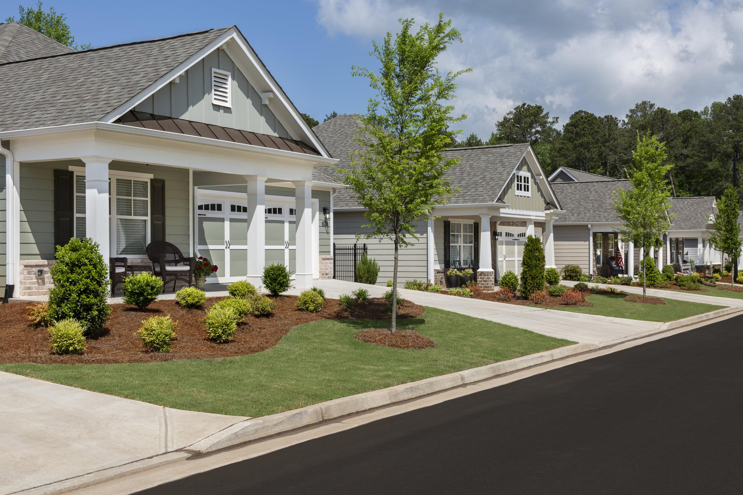 Residential Streetscape for an Atlanta Homebuilder