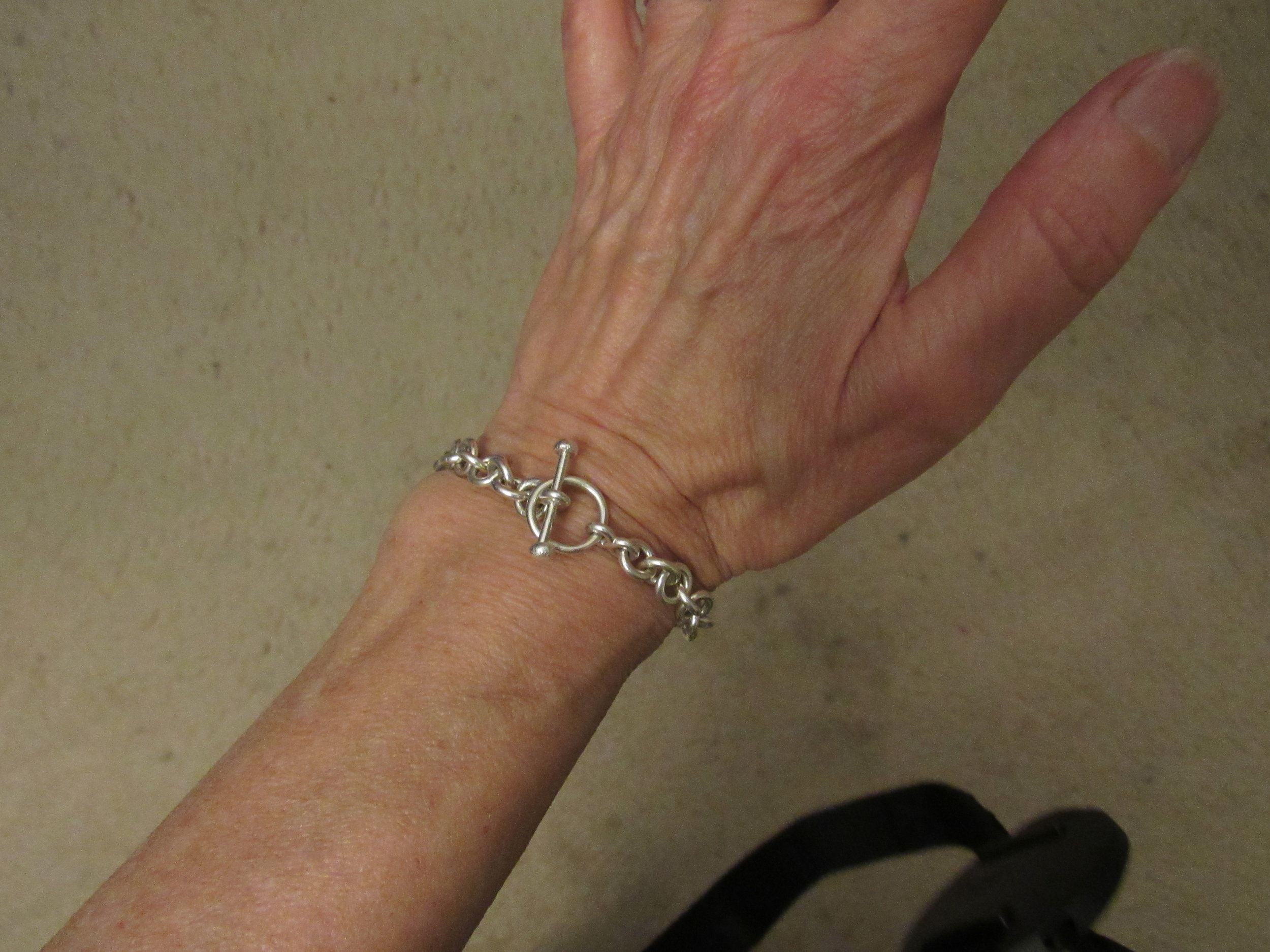 Much better than that paper hospital bracelet!