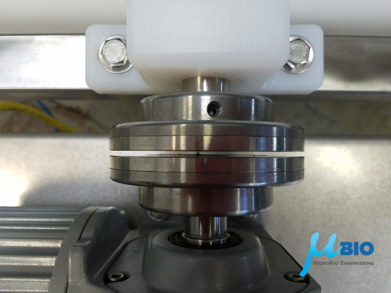 Magnetic coupler for algae raceway ponds MicroBio Engineering