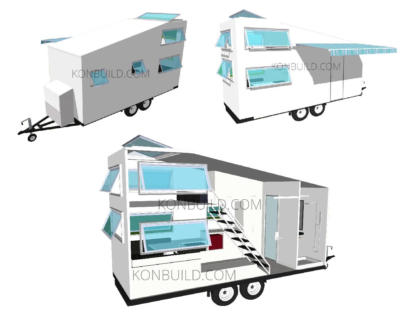 Affordable Portable Office Accommodation caravan travel trailer outside design.jpg
