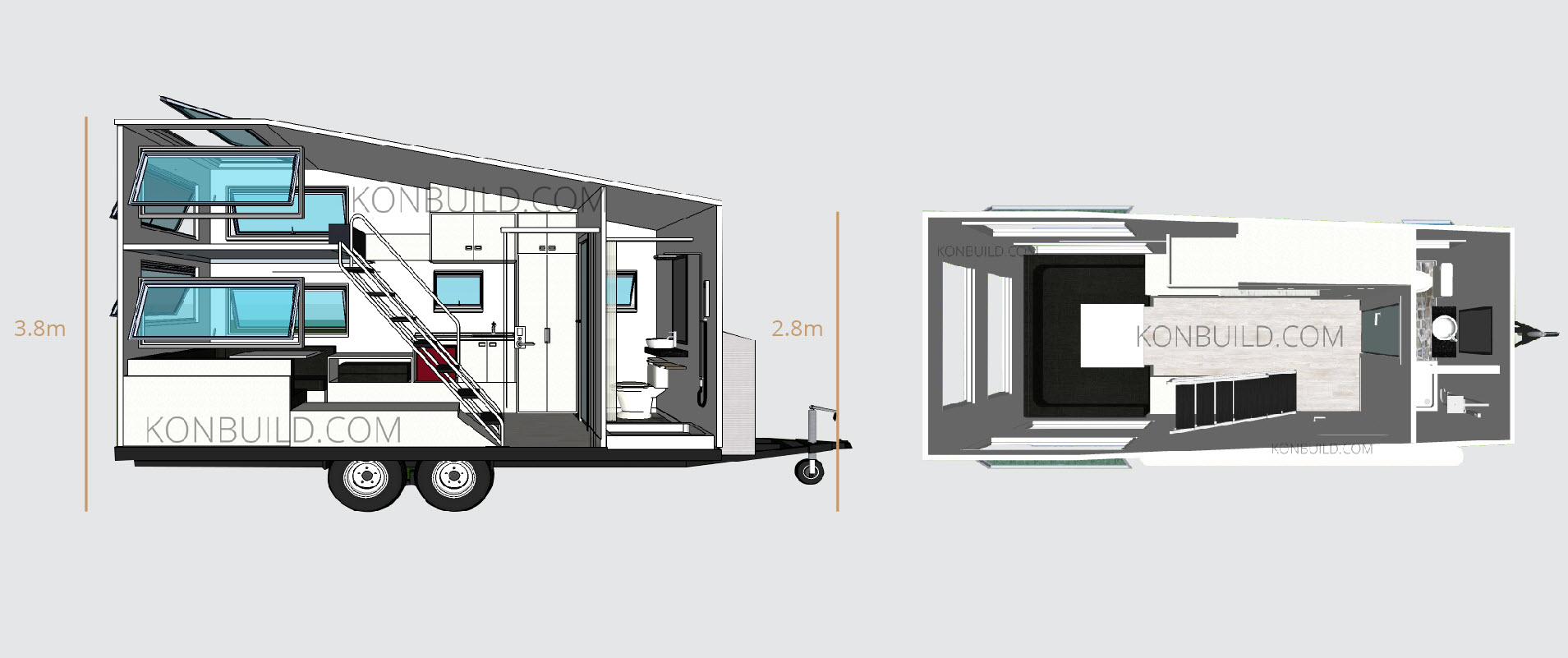 Affordable Portable Office Accommodation caravan travel trailer tiny home from china.jpg