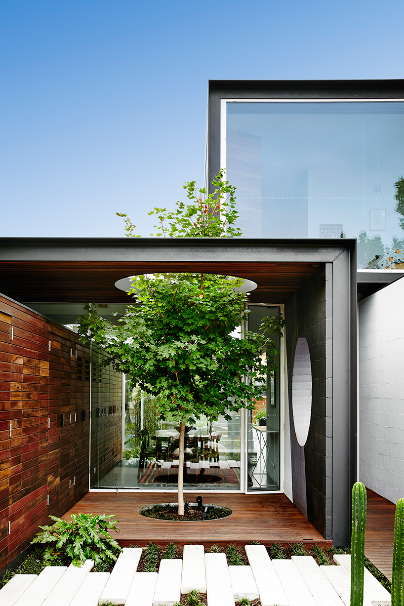 Architecture built to form around nature, and into the landscape.