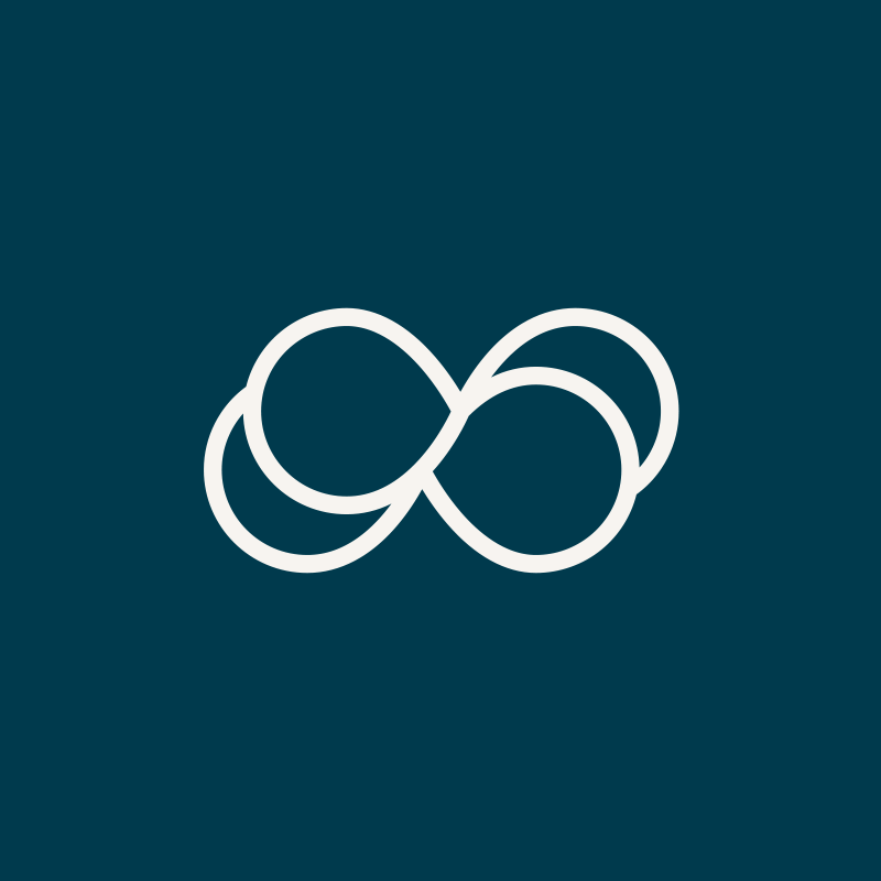 "Re:Mind's Logomark - Re:Mind's thoughtful name and personality required an equally nuanced logomark. I used a modified infinity symbol to create a feel of peace and repetition, hearkening back to the interplay of ""reminding"" and ""mindfulness"" that inspired their name."