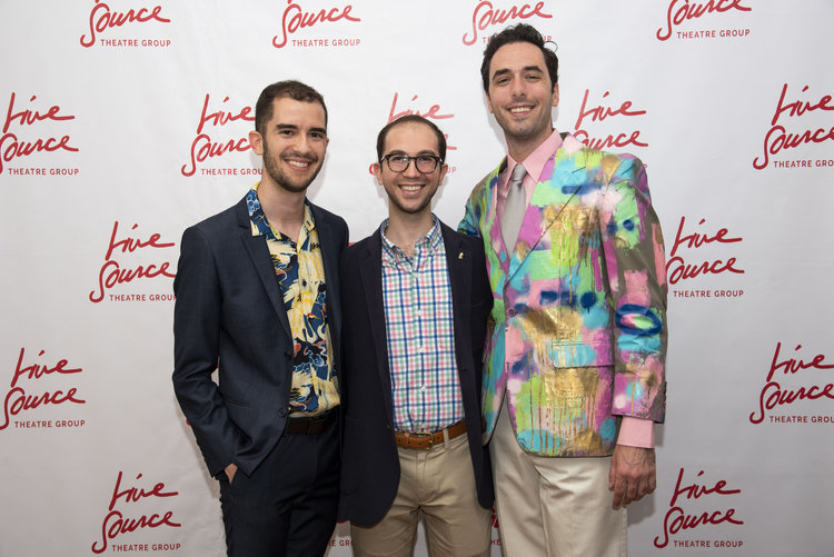 Artistic Director Tyler Mercer, playwright Gianfranco Settecasi, Artist In Residence Chris Dieman at 2018's Spring Gala  Photo by Victor Llorente
