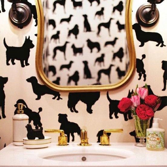 Dog Silhouette Wallpaper