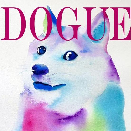 Dogue Watercolor Wall Print