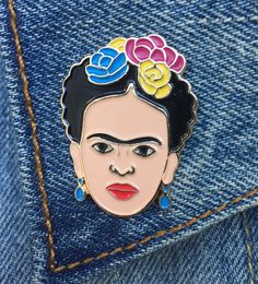 Frida Kahlo Pin from the Found Retail on Etsy